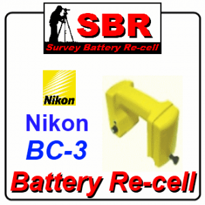 Nikon BC-3 Survey Battery Pack Rebuild / Recell / Replacement