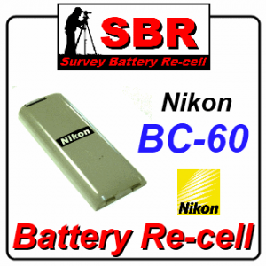 Nikon BC-60 Survey Battery Pack Rebuild / Recell / Replacement