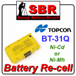 Topcon BT-31Q Survey Battery Pack Recell / Refill / Rebuild / Replacement