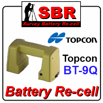 Topcon BT-9Q Survey Battery Recell / Refill / Rebuild / Replacement