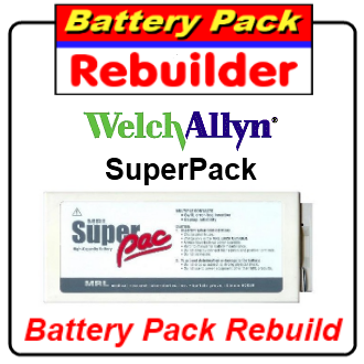welch allyn superpac battery re-cell