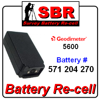Geodimeter 5600 571 204 270 survey battery pack rebuild